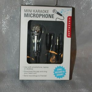 Mini karaoke microphone aux